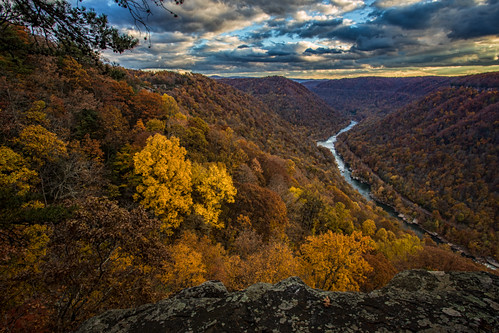 autumn sunset nps westvirginia nrg newrivergorge beautymountain newrivergorgenationalriver