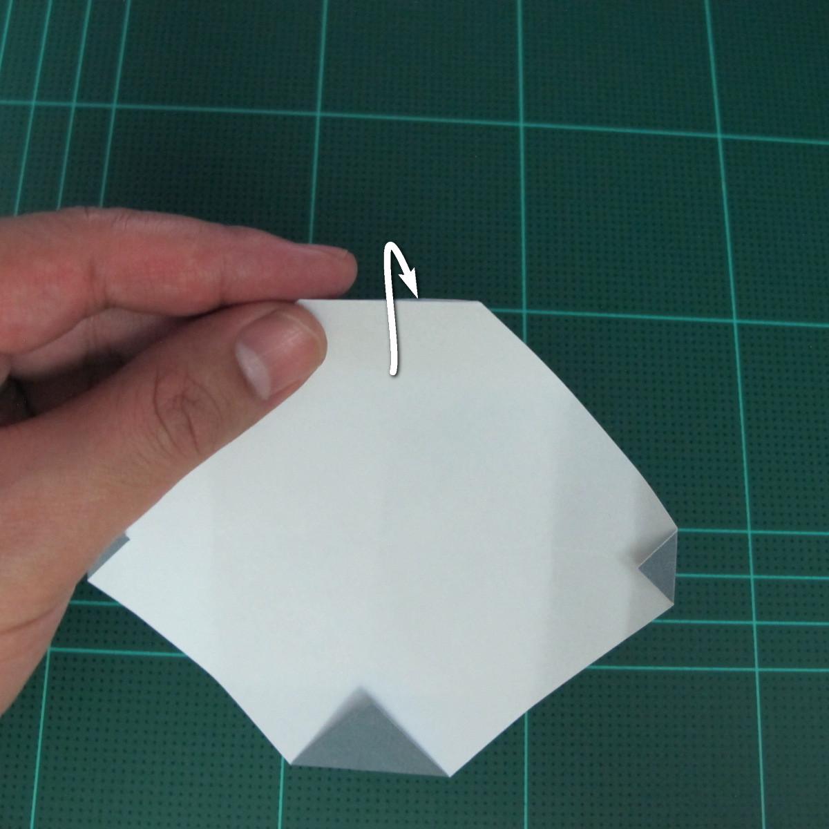 วิธีพับกระดาษเป็นรูปลูกสุนัข (แบบใช้กระดาษสองแผ่น) (Origami Dog) 018