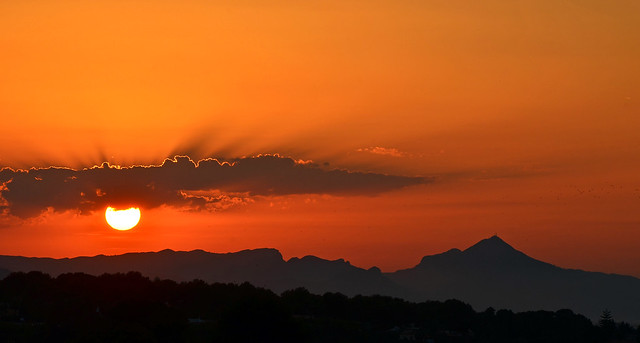 sunset, seen from my terrace
