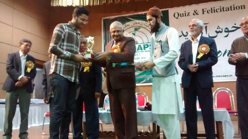DRM Western Railway Rajeev Choudhary, presenting prize to
