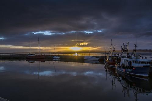 water clouds sunrise scotland boat fishing harbour blackisle avoch d7100