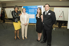MPH students Angie Thomure and Greg Attenweiler with CE committee Michele Battle-Fisher and Nikki Rogers