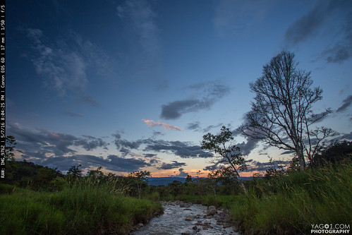water landscape ecuador twilight creeck elpangui
