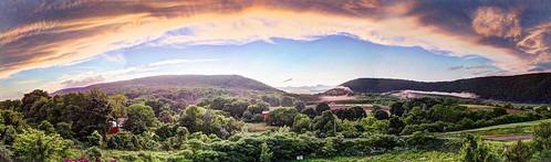 sunset mist mountains andy landscape pennsylvania hamburg andrew aga hdri panoramamaker photomatix highdynamicrangeimage aliferis iphoneography