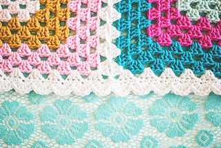 Granny Four Square edging | by Lisa | goodknits