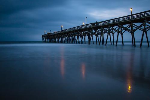 atlantik beach brücke cloudy langzeitbelichtung longexposure perspektive southcarolina strand usa wasser water weitwinkel wolkig surfsidebeach us