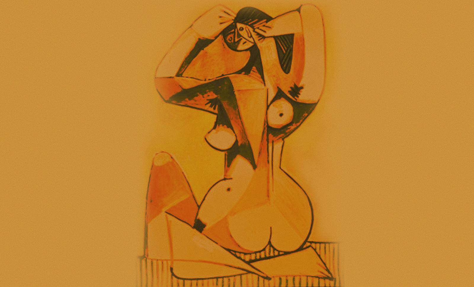 Bañándose, propuestas de Edgar Degas (1883), variaciones sobre un mismo tema de Pablo Picasso (1952).