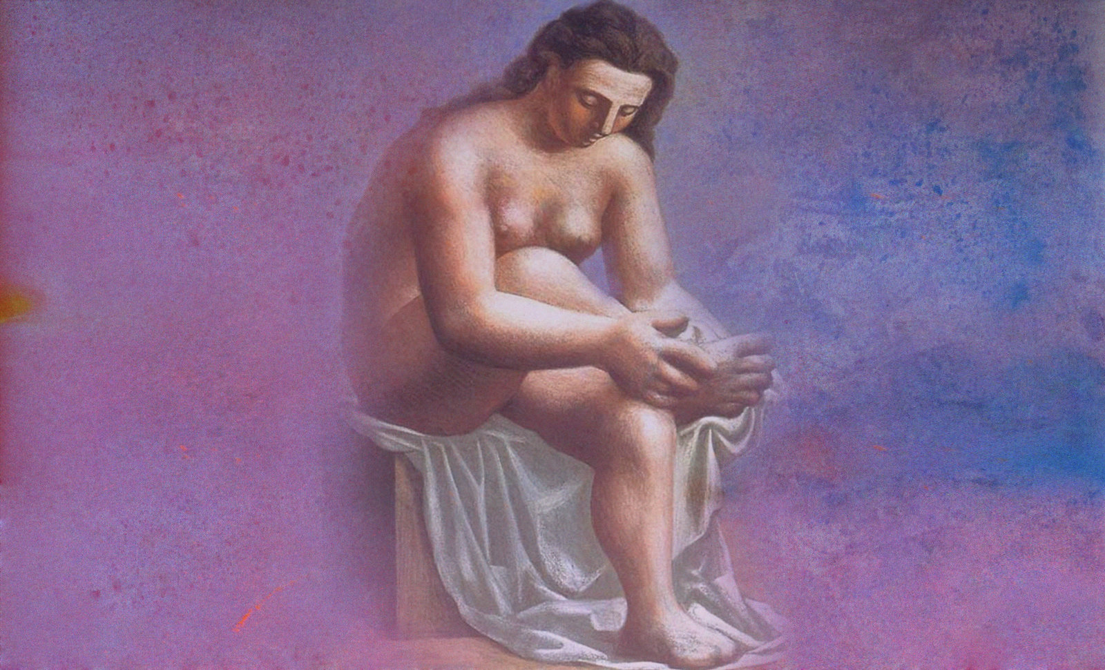 Después del Baño, reflexiones de Pierre Auguste Renoir (1898), arreglo de Pablo Picasso (1921).