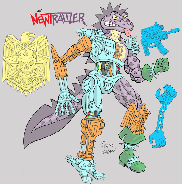 """The Original """"NEWTRALIZER"""" .. rejected TMNT Figure design by RYAN BROWN (( 1990 )) [[ Courtesy of R B ]] by tOkKa"""