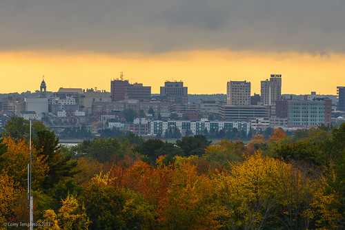 city autumn trees fall skyline sunrise portland other nikon downtown view maine scenic newengland foliage portlandmaine quarry d600