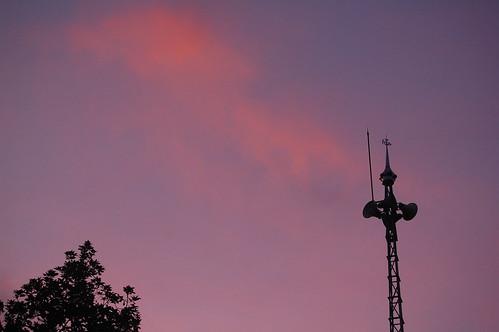 sunset shadow orange minaret mosque masjid