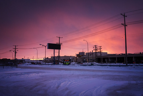 winter sunset snow canada building architecture winnipeg manitoba