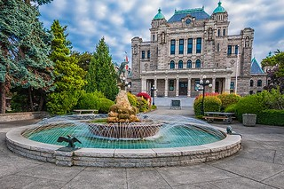 The rear of the BC Government Legislative Building in Victoria, Vancouver Island British Columbia | by BCVacation