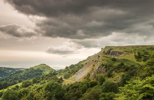 sunset mountain wales clouds rocks outdoor north cymru cliffs llangollen denbighshire ruabon eglwyseg