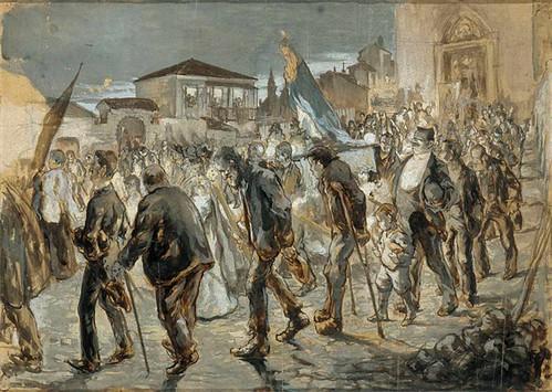Salida de una procesión, h. 1905