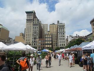 Union Square in Manhattan: Greenmarket Farmers Market was taking place   by Boortz47