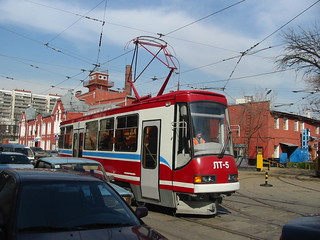 Moscow tram LT-5. Frist test drive on streets. _20030418_101 | by trolleway