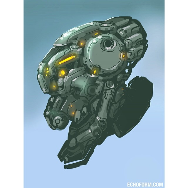 Mech Portrait Autodesk Sketchbook Pro | One more belated #ma… | Flickr