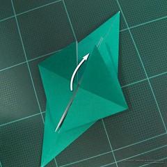 วิธีพับกระดาษเป็นรูปหมู (Origami Pig) 002