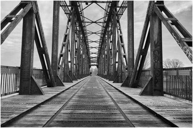 Magdeburg Hubbrücke Liftingbridge