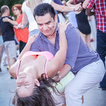 Salsa Monday Verdun Montreal dancing with skirts, jeans, shorts, and hair flying :)