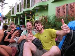 Mit Pickup am Weg zum Guesthouse -Pangbeng, Laos