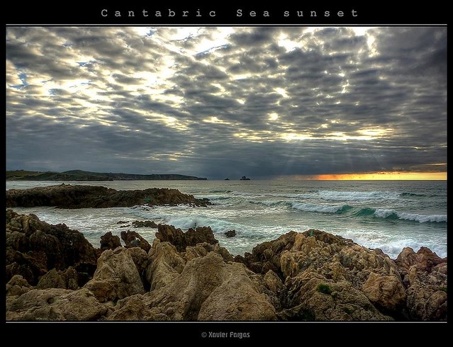 Cantabric Sea sunset