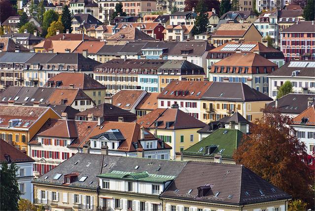 La Chaux-de-Fonds , The sea of Roofs. Autumn Time. No.93.