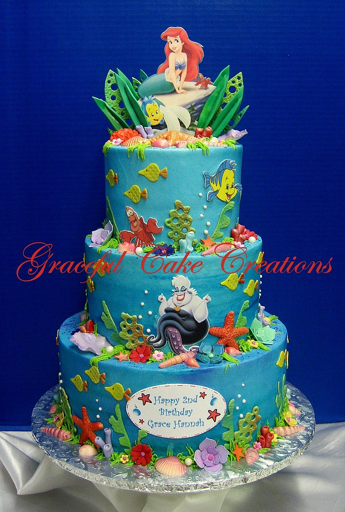 Prime Ariel Little Mermaid Birthday Cake Grace Tari Flickr Personalised Birthday Cards Bromeletsinfo