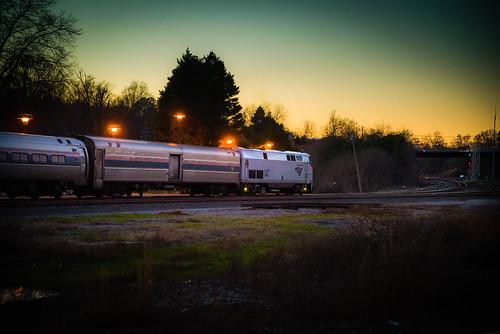 travel night train dark photography evening nc twilight mood atmosphere rail railway raleigh amtrak passenger through atmospheric skynoir