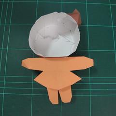 วิธีทำโมเดลกระดาษตุ้กตา คุกกี้สาวผู้ร่าเริง จากเกมส์คุกกี้รัน (LINE Cookie Run – Bright Cookie Papercraft Model) 023