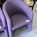 Purple wait chair