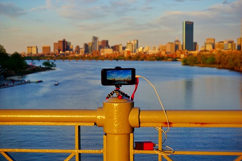 bridge sunset boston skyline river golden timelapse battery newengland charles pack hour bolt strap wrist behind behindthescenes scenes bu iphone joby 6s gorillapod mitsailingpavilion lapseit iphone6s fluxmob