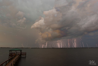Lightning pounds Satellite Beach, Florida | by Michael Seeley