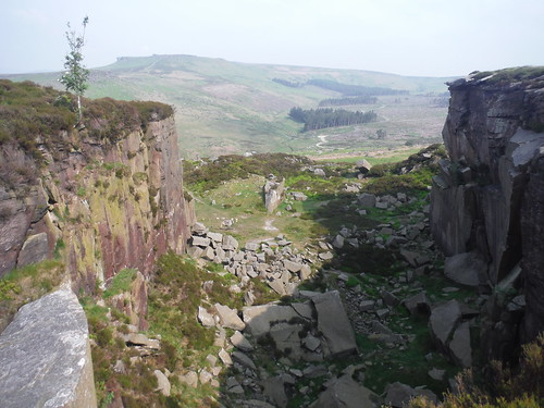 Cleft in Burbage Rocks SWC Walk 266 - Sheffield to Bamford (via Burbage Rocks and Stanage Edge) or to Moscar Lodge