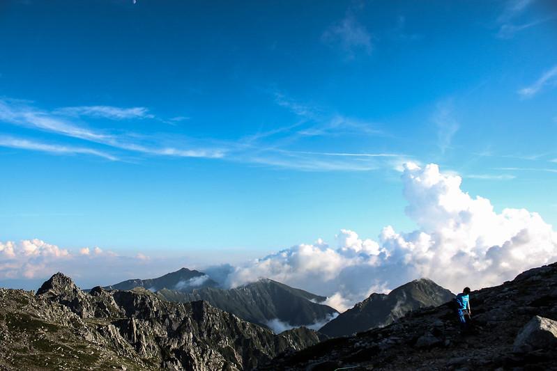 木曽駒ヶ岳の稜線
