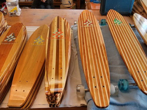Blacklock longboards, on table | by vomsorb