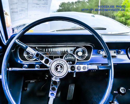 Inside an old Ford Mustang... | by AvgeekJoe