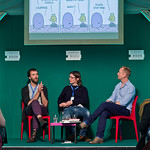 Stephen Collins and Tom Gauld appeared as part of the Book Festival's Stripped programme |