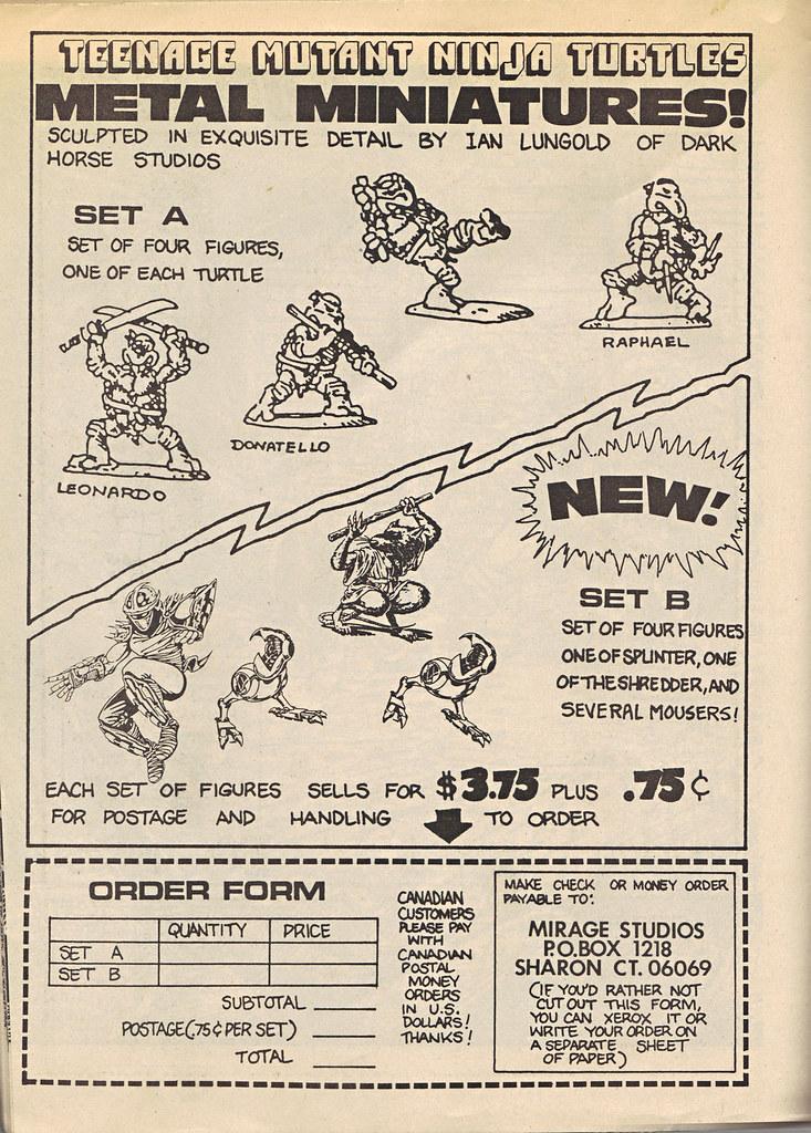 """The Original """"FUGITOID #1"""" vi // TMNT METAL MINATURES ad & order form (( 1985 )) by tOkKa"""