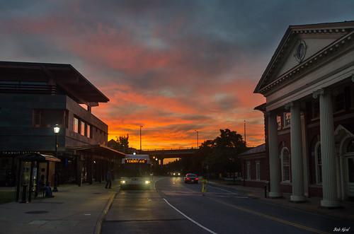 street city bridge building bus station sunrise virginia nikon nef outdoor charlottesville d5100 bobmical