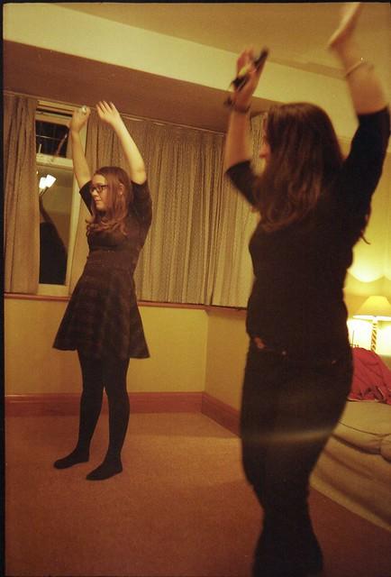 Olympus Mju - Becca & Lisa - Wii Dance