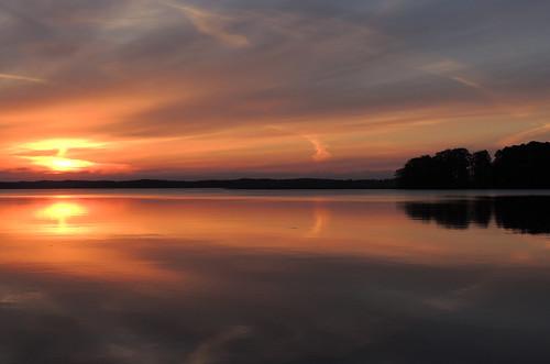 lake sunrise latvia aliksne