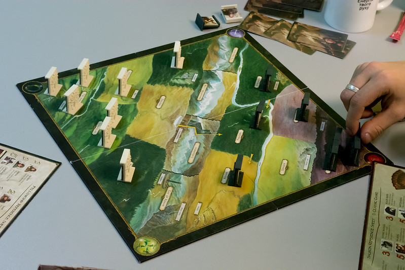Best Lord of the Rings Board Games the confrontation map