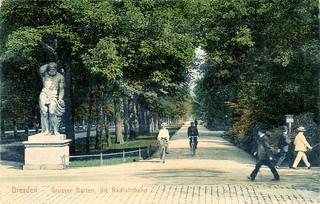 Großer Garten 1906   by adfc.sachsen