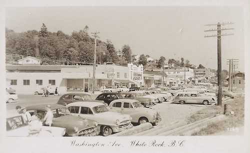 c.1954 J.C. Walker Photo #1169 - Real Photo Postcard - Business Section of Town Opposite the Train Station at White Rock, B.C., Canada | by Treasures from the Past