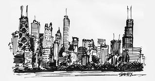 Chicago Skyline   by Sean McMenemy