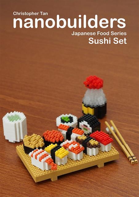 nanobuilders - Japanese Food Series - Sushi Set