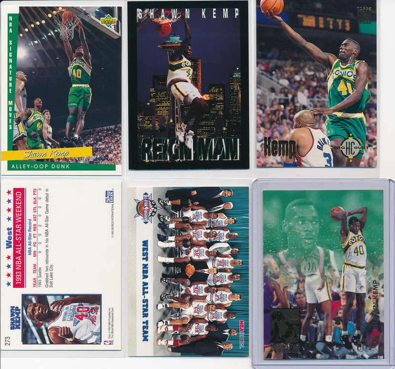 Shawn Kemp Cards 10-16 Front