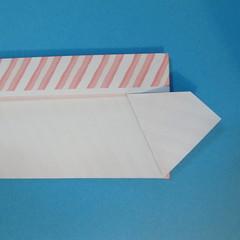 วิธีพับกล่องกระดาษรูปหัวใจส่วนฐานกล่อง 028